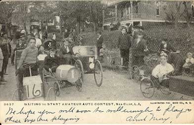 Amateur Auto Racing on Waiting To Start Amateur Auto Contest  Sea Cliff  Li  Ny 1910